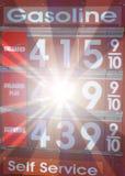τιμή αερίου έκρηξης Στοκ Φωτογραφίες