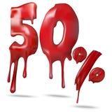 Τιμή 50 απεικόνισης έκπτωση, λειωμένα μέταλλα Διανυσματική απεικόνιση για τη διαφήμιση πώλησης έκπτωσης προώθησης απεικόνιση αποθεμάτων