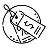 Τιμή με το εικονίδιο σημαδιών δολαρίων απεικόνιση αποθεμάτων