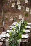 Τιμή τών παραμέτρων γαμήλιων πινάκων Στοκ φωτογραφία με δικαίωμα ελεύθερης χρήσης