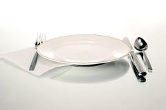 τιμή τών παραμέτρων πιάτων Στοκ Φωτογραφία