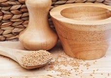 τιμή τών παραμέτρων σπόρων μουστάρδας κουζινών Στοκ Φωτογραφίες