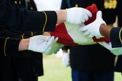 τιμή φρουράς σημαιών Στοκ φωτογραφίες με δικαίωμα ελεύθερης χρήσης