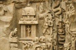 Τιμωρία Arjuna σε Mahabalipuram, Tamil Nadu, Ινδία, Ασία Στοκ Εικόνες