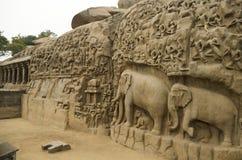 Τιμωρία Arjuna σε Mahabalipuram, Tamil Nadu, Ινδία, Ασία Στοκ εικόνες με δικαίωμα ελεύθερης χρήσης