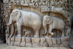 Τιμωρία Mahabalipuram, Ινδία Arjuna ` s Στοκ Εικόνες