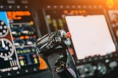 Τιμόνι, αεροσκάφη, πειραματική καμπίνα ελέγχου ` s, ταμπλό Στοκ φωτογραφία με δικαίωμα ελεύθερης χρήσης