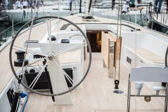 Τιμόνι της βάρκας πέπλων Στοκ Εικόνες