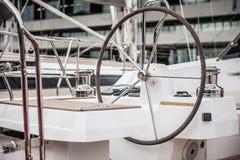 Τιμόνι της βάρκας πέπλων Στοκ εικόνα με δικαίωμα ελεύθερης χρήσης