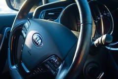 Τιμόνι της Kia στοκ φωτογραφία με δικαίωμα ελεύθερης χρήσης