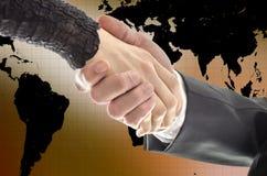 Τινάζοντας χέρια Στοκ φωτογραφία με δικαίωμα ελεύθερης χρήσης