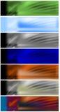 τις επικεφαλίδες εμβλημάτων που τίθενται τον Ιστό Στοκ Εικόνες