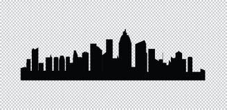 τις πόλεις που τίθενται το διάνυσμα σκιαγραφιών στοκ φωτογραφία με δικαίωμα ελεύθερης χρήσης