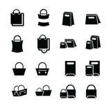 Τις τσάντες αγορών καθορισμένες το σχέδιο Στοκ Εικόνα