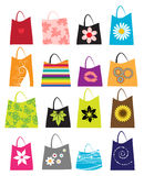 τις τσάντες που τίθενται τις αγορές απεικόνιση αποθεμάτων