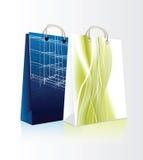 τις τσάντες που τίθενται &t Στοκ Εικόνες