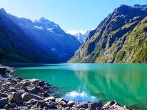 Τισσα Παρθένου Μαρίας διαδρομή Milford λιμνών στοκ φωτογραφίες με δικαίωμα ελεύθερης χρήσης