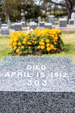 Τιτανικό νεκροταφείο Θέση στην πόλη του Χάλιφαξ στον Καναδά όπου τ Στοκ Φωτογραφία