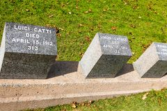 Τιτανικό νεκροταφείο Θέση στην πόλη του Χάλιφαξ στον Καναδά όπου τ Στοκ εικόνα με δικαίωμα ελεύθερης χρήσης