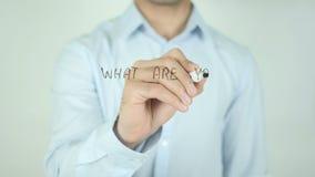 Τι είστε οι περισσότεροι υπερήφανος; , Γράφοντας στη διαφανή οθόνη απόθεμα βίντεο
