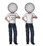Τι ώρα πρόσωπο ρολογιών που φαίνεται ελέγχοντας την απεικόνιση Στοκ φωτογραφία με δικαίωμα ελεύθερης χρήσης