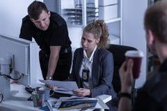 Τμήμα έρευνας για έγκλημα Στοκ Φωτογραφίες