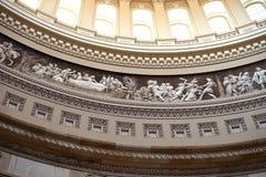 Τμήμα αμερικανικών Capitol θόλων frieze Στοκ φωτογραφία με δικαίωμα ελεύθερης χρήσης
