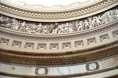 Τμήμα αμερικανικών Capitol θόλων frieze Στοκ εικόνα με δικαίωμα ελεύθερης χρήσης