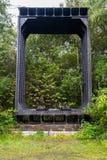 Τμήμα επεξεργασμένου σιδήρου της αρχικής γέφυρας Britannia στοκ φωτογραφία