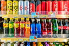 Τμήμα μη αλκοολούχων ποτών σε 7-11 στοκ εικόνες