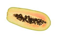 Τμηματική άποψη ώριμο Papaya Στοκ Εικόνες