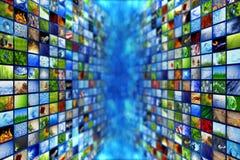 Τοίχοι βίντεο και εικόνας πολυμέσων Στοκ φωτογραφία με δικαίωμα ελεύθερης χρήσης