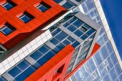 Τοίχοι ενός σύγχρονου κτηρίου Στοκ Εικόνες