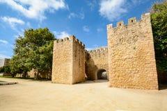 Τοίχοι και πύλη πόλεων στην παλαιά κωμόπολη του Λάγκος, Αλγκάρβε Πορτογαλία Ευρώπη Στοκ Εικόνες