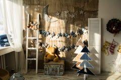 Τοίχοι νεράιδων Χριστουγέννων υποβάθρου Στοκ εικόνα με δικαίωμα ελεύθερης χρήσης