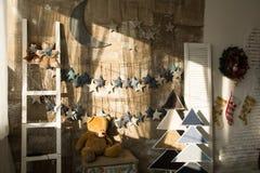 Τοίχοι νεράιδων Χριστουγέννων υποβάθρου Στοκ Εικόνες