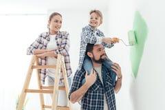 Τοίχοι οικογενειακής ζωγραφικής από κοινού στοκ φωτογραφίες με δικαίωμα ελεύθερης χρήσης