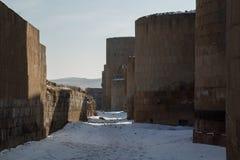 Τοίχοι πόλεων αρχαίου Ani, Τουρκία Στοκ Εικόνες