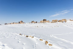 Τοίχοι πόλεων της αρχαίας πόλης Ani, Kars, Τουρκία Στοκ Εικόνες