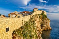 Τοίχοι πόλεων Dubrovnik, Κροατία Στοκ φωτογραφία με δικαίωμα ελεύθερης χρήσης