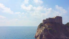 Τοίχοι της παλαιάς πόλης Dubrovnik, Κροατία Στοκ εικόνα με δικαίωμα ελεύθερης χρήσης