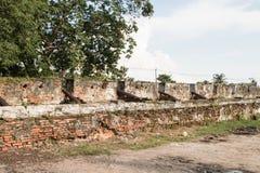 Τοίχοι του αρχαίου πυροβόλου Στοκ Εικόνα