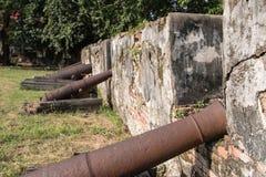 Τοίχοι του αρχαίου πυροβόλου Στοκ Φωτογραφίες