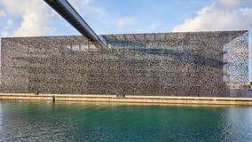 Τοίχοι του κτηρίου Mucem Στοκ εικόνες με δικαίωμα ελεύθερης χρήσης