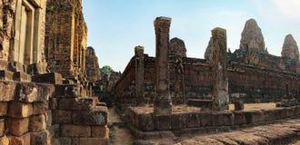 Τοίχοι του προ ναού Rup στην Καμπότζη Στοκ εικόνα με δικαίωμα ελεύθερης χρήσης