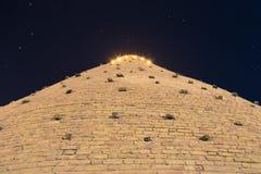 Τοίχοι του φρουρίου κιβωτών της Μπουχάρα, Ουζμπεκιστάν Άποψη από το κατώτατο σημείο Βλαστός φωτογραφιών νύχτας στοκ εικόνα