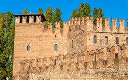 Τοίχοι του φρουρίου Castelvecchio στη Βερόνα Στοκ εικόνα με δικαίωμα ελεύθερης χρήσης