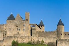 τοίχοι του Carcassonne Γαλλία Στοκ Εικόνες