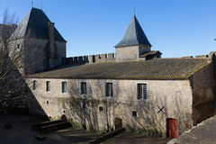 Τοίχοι φρουρίων στο Carcassonne Γαλλία Στοκ φωτογραφία με δικαίωμα ελεύθερης χρήσης