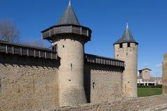 Τοίχοι φρουρίων στο Carcassonne Γαλλία Στοκ εικόνες με δικαίωμα ελεύθερης χρήσης